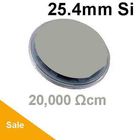 25.4mm (1 inch) silicon wafer