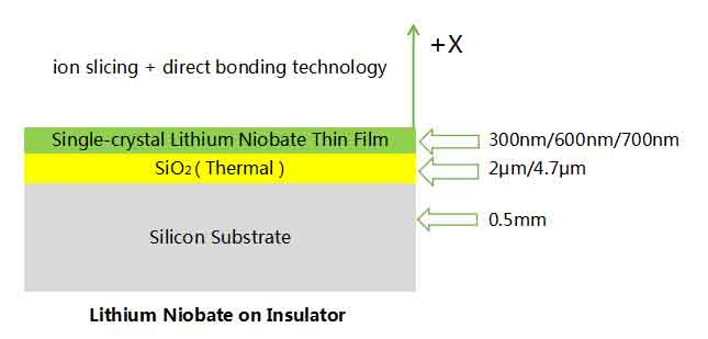 single crystal lithium niobate thin film